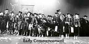 early commencement ceremony