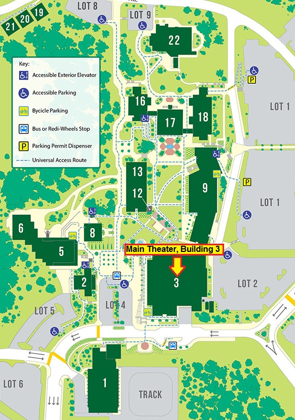 Canada campus map for event