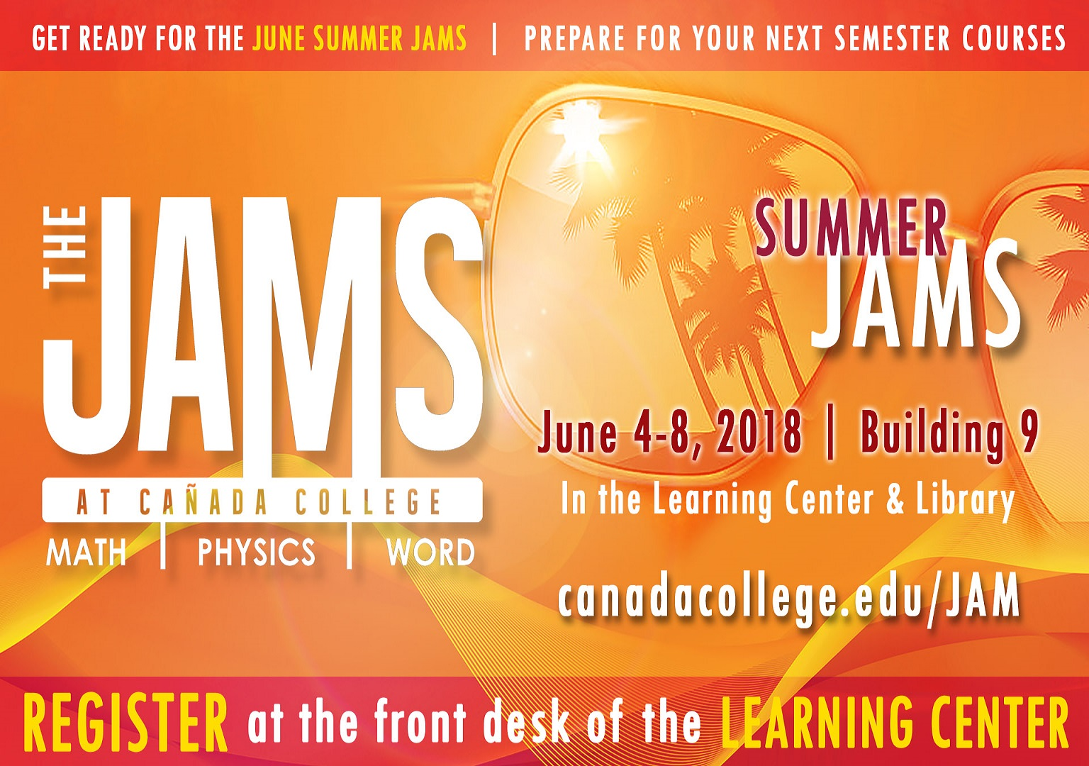 JAMS at Cañada College June 4-8 | Bldg 9