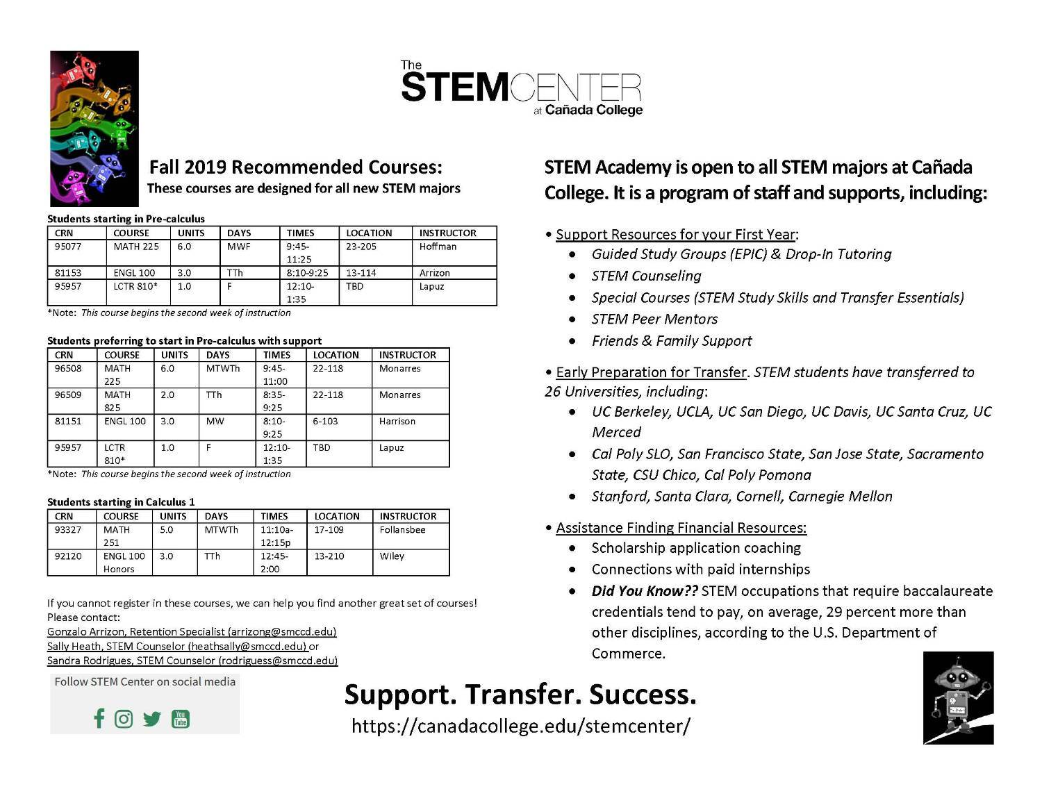 Cal Poly Pomona Academic Calendar.New Stem Students Stem Center Canada College